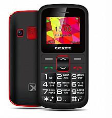 Мобильный телефон teXet TM-B217 черный-красный