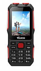 Мобильный телефон Olmio X02 черный-красный