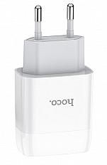 Сетевое зарядное устройство HOCO C73A USB 2.4A, белый