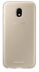 Чехол-накладка Samsung Jelly Cover EF-AJ330 для Galaxy J3 (2017) золотой