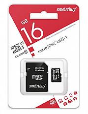 Карта памяти Smartbuy Micro SD 16 Гб