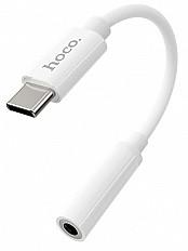 Переходник HOCO LS30 Audio 3.5 мм для разъема Type-C белый